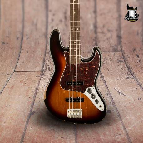 Fender Jazz Bass Classic Series 60's Road Worn RW 3 Color Sunburst