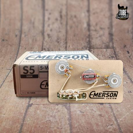Emerson Custom Stratocaster 5 Way 500k Prewired Kit