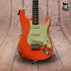 Fender Custom Shop Ltd Ed MasterBuilt John Cruz Tribute Gary Moore 61 Stratocaster Relic RW Fiesta Red