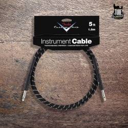 Fender CS FG05BS Cables 1.5m. Black Tweed
