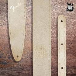"Fender 2"" Distressed Leather Straps White"