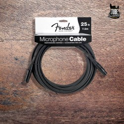 Fender FM25 Performance Series Microphone Cable 7.5m Black