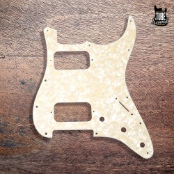 Fender Strat Pickguard Double Fat 2 Humbuckers White Pearl