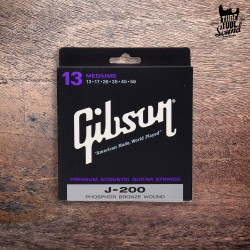 Gibson SAG-J200 Phosphor Bronze J-200 Acoustic Strings Medium 13-56