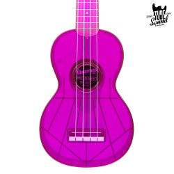 Kala KA-SWF-PL Waterman Soprano Ukulele Fluorescent Purple Grape