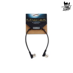 RockBoard Flat MIDI Cable 30 cm Black