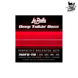 La Bella 760-FS Deep Talkin Bass Flatwound 45-105