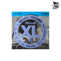 D'Addario EXL116 Nickel Wound Electric Medium Top Heavy Bottom 11-52