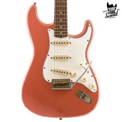 Fender Custom Shop Stratocaster 64 RW Journeyman Super Faded Aged Fiesta Red