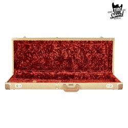 G&G Deluxe Strat/Tele Hardshell Case Tweed with Red