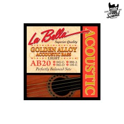 La Bella AB20 Golden Alloy Accoustic Bass Light 45-100