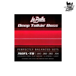 La Bella 760FL-TB Deep Talkin Bass Flatwound 43-104