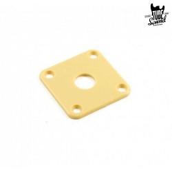 Retro Parts RP141C Jack Plate Gibson Style Cream Plastic