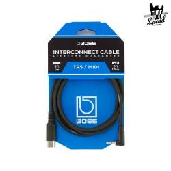Boss BMIDI-5-35 Interconnect Cable TRS MIDI 1,5m Black