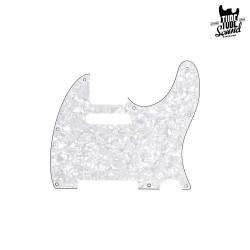 Fender Tele Pickguard 8 Holes 4-Ply White Pearl