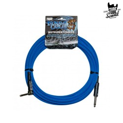 Tsunami Cables G20-RSTB Right Angle 6m Tsunami Blue