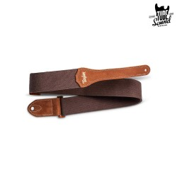 "Taylor 2"" GS Mini Cotton Guitar Strap Chocolate Brown"