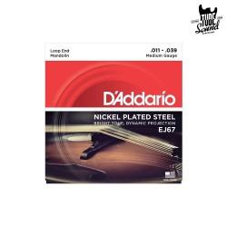 D'Addario EJ67 NPS Mandolin Medium 11-39