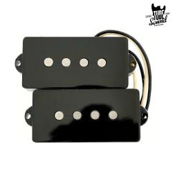 Lollar P-Bass 4 Strings Split Coil Black
