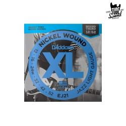 D'Addario EJ21 Nickel Wound Electric Jazz Light 12-52