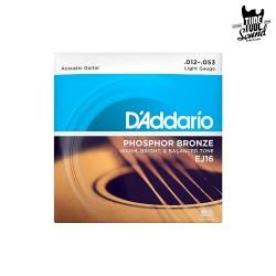 D'Addario EJ16 Phosphor Bronze Acoustic Light 12-53