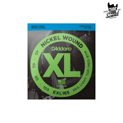 D'Addario EXL165 Nickel Wound Bass Regular Light Top Medium Bottom 45-105