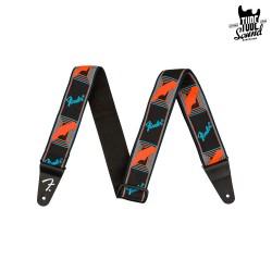 Fender Neon Monogrammed Strap Blue Orange