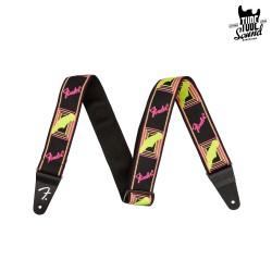 Fender Neon Monogrammed Strap Yellow Pink