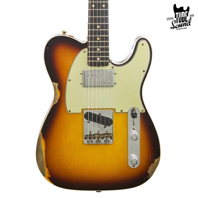 Fender Custom Shop Ltd. Ed. Telecaster Custom Cunife RW Relic Faded Aged Chocolate 3 Color Sunburst