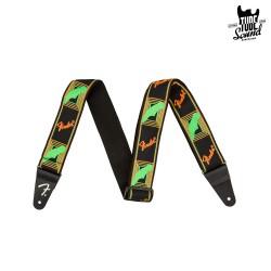 Fender Neon Monogrammed Strap Green Orange