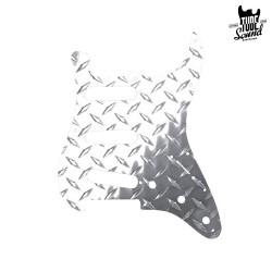 Allparts PG 0559-010 Strat Pickguard Polished Aluminum Diamond Plate