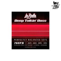 La Bella 760FS Flat Wound Stainless Steel Electric Bass 45-105