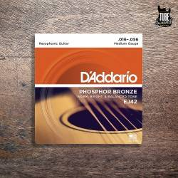 D'Addario EJ42 Phosphor Bronze Resophonic Medium 16-56