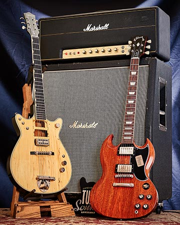 Gretsch G6131-MY Malcolm Young Signature JET Natural-Gibson Custom SG Standard Reissue VOS Faded Cherry