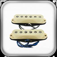 Las pastillas V-Mod Stratocaster están diseñadas con una mezcla patentada de tipos de imán alnico para las pastillas de mástil y medios. Cada pastilla está diseñada específicamente para su posición, con más salida y con el sonido vintage cálido y nítido que hizo de Fender una leyenda.