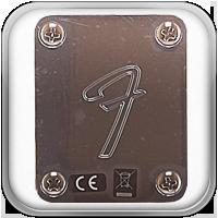 """Cada guitarra de la serie Player incluye una placa de mástil estampada en """"F"""", para no dejar ninguna duda en cuanto al pedigrí del instrumento."""